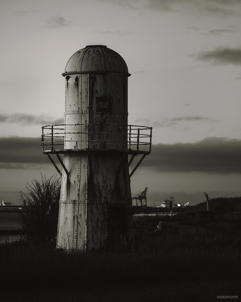photograph of low lighthouse